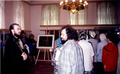 В Череповецком музее на выставке икон и картины из Леушинского монастыря