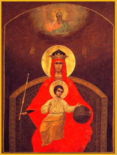 The icon of God's Mother Derzhavnaya